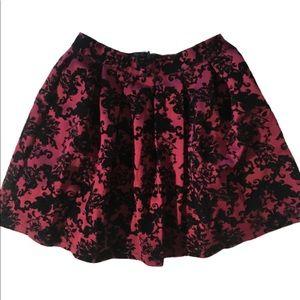 Royal Purple Skirt velvet Scrollwork Tulle layers